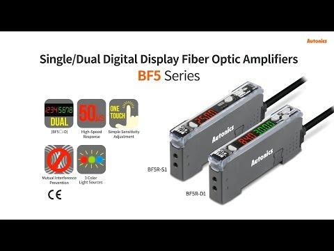 Autonics : Single/Dual Digital Display Fiber Optic Amplifiers BF5 Series