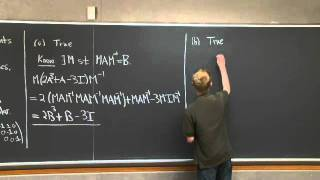 Similar Matrices | MIT 18.06SC Linear Algebra, Fall 2011