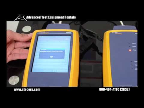 How to Use the Fluke Versiv Series Part 1: DSX-5000/8000 Cable Certifier