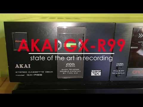 AKAI GX-R99 - state of the art in recording - TAPEDECK