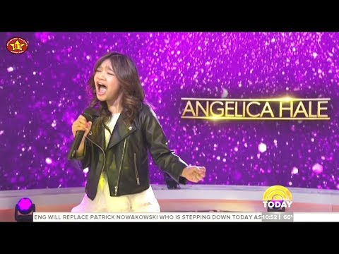 Angelica Hale sings I'll Be There at the Today Show - with Interview sister Abigail April-13-2018
