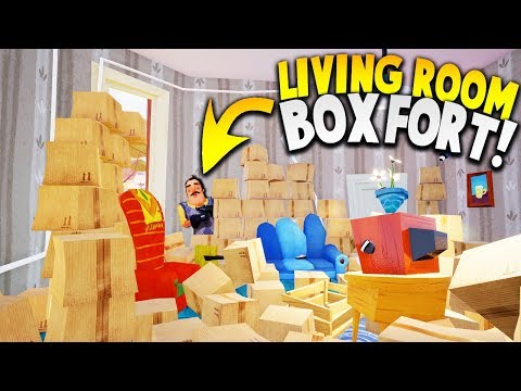 CRAZY BOX FORT IN THE MIDDLE OF THE NEIGHBOR'S HOUSE?! | Hello Neighbor Gameplay (видео)