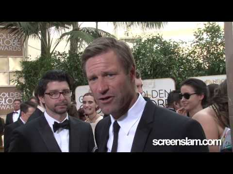 Golden Globes 2014 Party: Aaron Eckhart