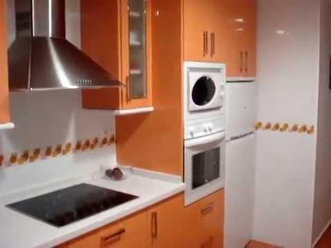 Vidrio lacado lacobel videos videos relacionados con - Cocina blanca y naranja ...