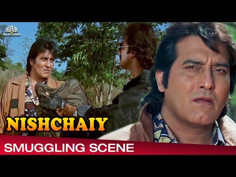 Vinod Khanna Smuggling Scene From Nishchaiy निश्चय 1992,Hindi Drama Movie