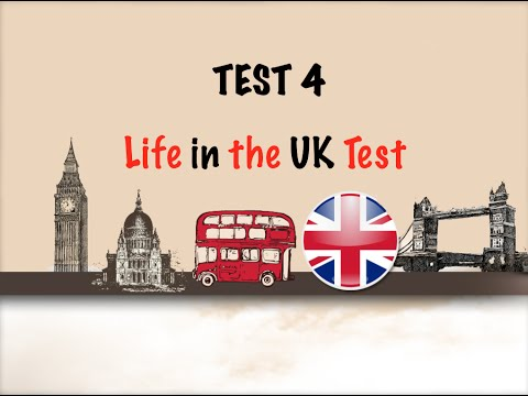 🇬🇧 Life in the UK Test 2017 - Citizenship free practice tests-TEST 4 📚