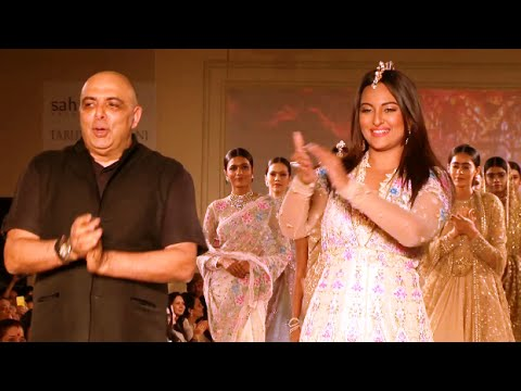 Sonakshi Sinha As Show Stopper For Designer Tarun Tahiliani Solo Show