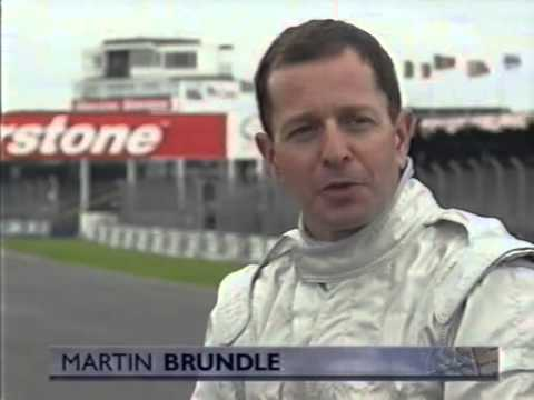Murray Walker and Martin Brundle in the Mclaren two-seater at Silverstone