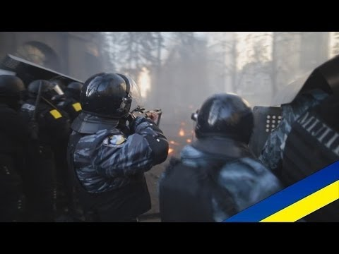 Ukraine protests fighting in Kyiv (18.02.2014) +18 (видео)