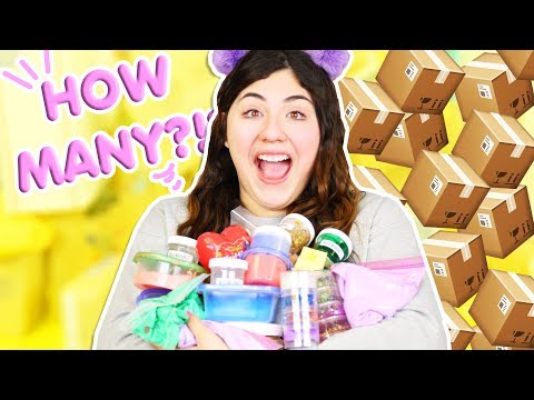 HOW MANY SLIMES DID YOU GUYS SEND ME!?!?! Subscriber slime review  Slimeatory #294