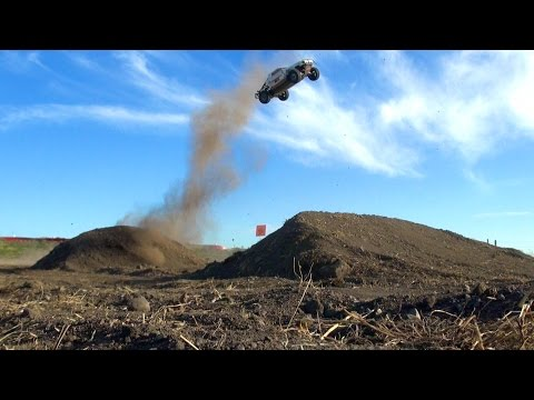 RC ADVENTURES - Launching a Losi 5T 4x4 Radio Controlled Gas Powered Truck