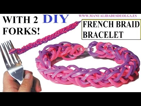 french braid - FRENCH BRAID BRACELET. Bracelet rubber bands tutorial without rainbow loom! You do not need to have the rainbow loom you make this bracelet. You only need tw...