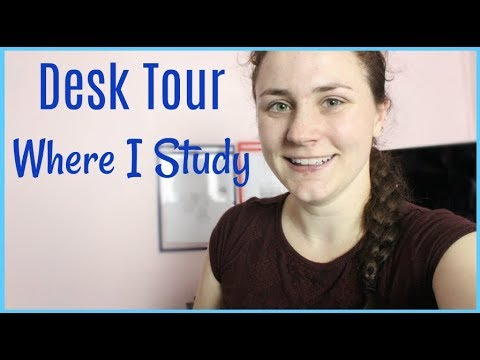 DESK STUDY AREA ROOM TOUR | Allie's Life