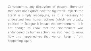 Introduction To Literature And The Environment - Lecture 7: Pastoral (conclusion) And Georgic
