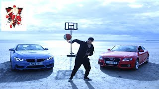 "Conman takes out one of his cars... the BMW M4 for an epic action video with tricks, trick shots and great driving skills!Subscribe to Tom ""Conman"" Connors For Amazing Streetball And Basketball Action - http://bit.ly/1rIJAg8http://www.conmanbasketball.comhttp://www.instagram.com/tomconmanconnorshttp://www.facebook.com/tomconmanconnorshttp://www.twitter.com/conman63Tom ""Con-man"" Connors is considered a street basketball legend and one of the best street basketball players in the world. Not only an urban sport star throughout the globe. Tom entertains millions with his basketball skill and antics from the centre stage to the rugged street basketball courts. Conman appears in All Star and exhibition games and featured in his own TV shows worldwide. Con-man has developed an established portfolio since the beginning of his career, a fully sanctioned Sporting Champion and the face of UK basketball, a multi Guinness World Record holder with 16 basketball world records and a European street basketball champion.  In various fan polls over his career ""Conman"" has consistently been voted in the top 10 streetball players in the world."