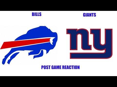 Buffalo Bills vs New York Giants Post Game Reaction Giants Fan Reaction