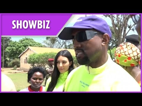 Kanye West and Kim Kardashian visit Ugandan orphanage to donate Yeezy sneakers