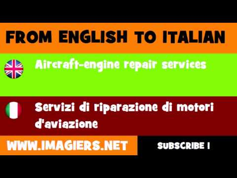 FROM ENGLISH TO ITALIAN = Aircraft engine repair services