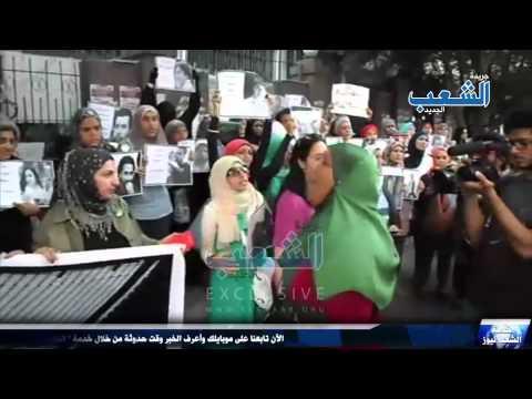 حرائر مصر يهتفن ضد العسكر فى وقفة نسائية أمام نقابة الصحفيين