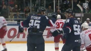 Первая шайба Сетдикова в КХЛ
