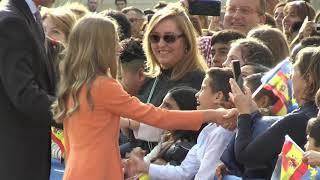Llegada de la Familia Real al acto de bienvenida a Asturias
