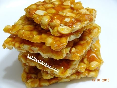 Peanut Chikki Recipe or ground nut recipe