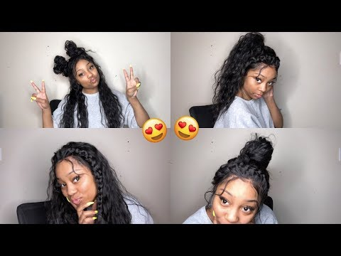 4 EASY HAIRSTYLES ON AFFORDABLE LACE FRONT WIG  ft. Liweike Hair