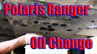 4. How to Change Oil Polaris Ranger 800: Water in Oil