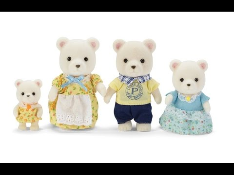 Calico Critters Polar Bear Family Playset Video Review
