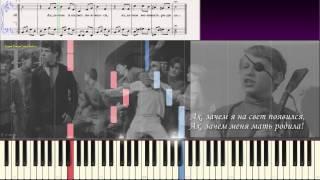 По приютам я с детства скитался... (Ноты и Видеоурок для фортепиано) (piano cover)