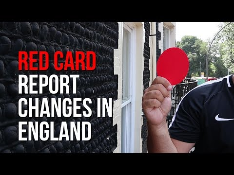 🔴 Referee Red Card Report Changes In England 2018/19 Season