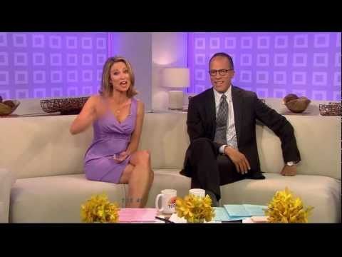Amy Robach - short skirt and cleavage