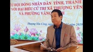 Đại biểu HĐND tỉnh, thành phố tiếp xúc cử tri xã Thượng Yên Công và phường Vàng Danh