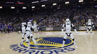 BOOGIE STORM at the NBA Warriors vs. Suns STAR WARS NIGHT