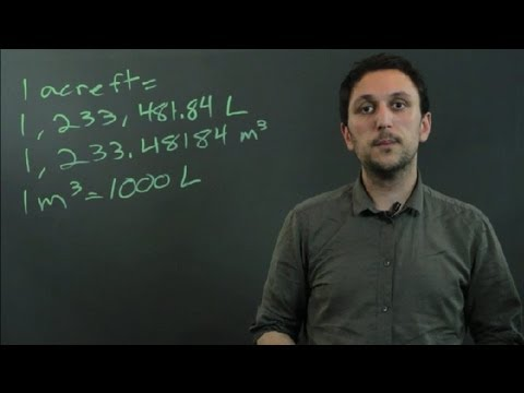How to Convert Acre Feet to Liters : Triangles & Conversions in Math