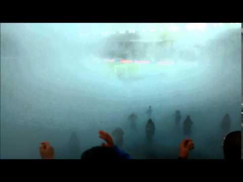 Hinchada de millonarios cantando en la apertura 2015 - Blue Rain - Millonarios