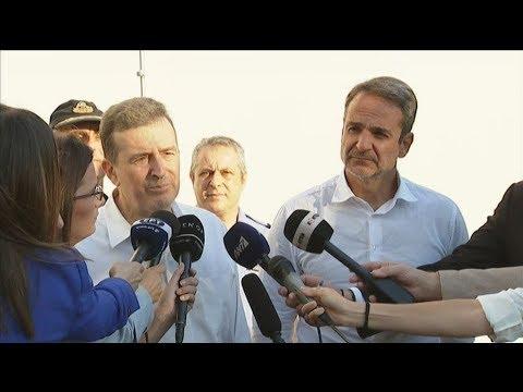 Ο πρωθυπουργός Κ. Μητσοτάκης στο Κέντρο Επιχειρήσεων της Πυροσβεστικής