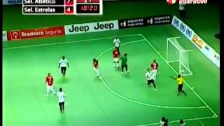 Brazilian indoor soccer Falcao scored impossible goal