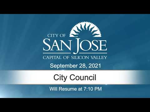 SEP 28 2021 City Council Evening Session