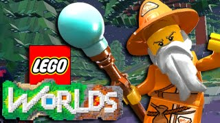 "Let's Play ""LEGO WORLDS"" - WIZARD, SPELLS, FIREBALL! Gamplay Let's Play Walkthrough (Funny Moments)"