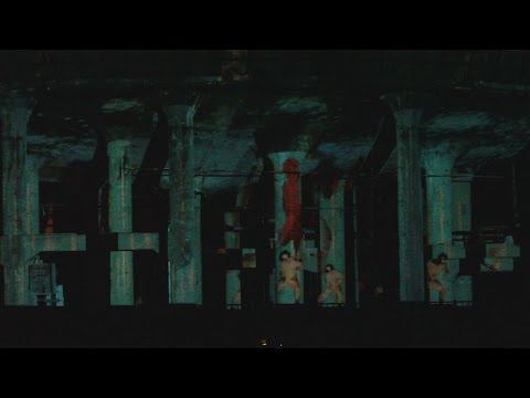 朝来・神子畑選鉱場で映像イベント