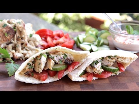 Chicken Shawarma Recipe on the Rotisserie of the Blaze Professional Gas Grill