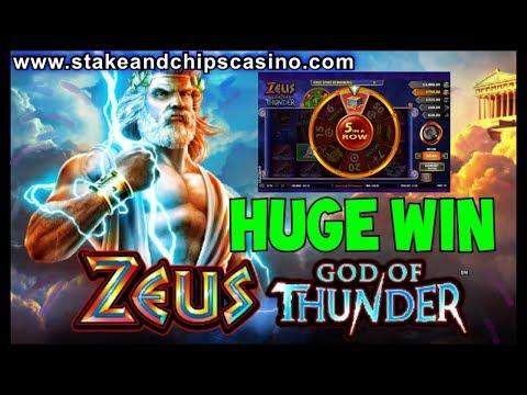 MEGA BIG WIN on ZEUS GOD OF THUNDER 🚨 CASINO SLOT MEGA BONUS ROUND