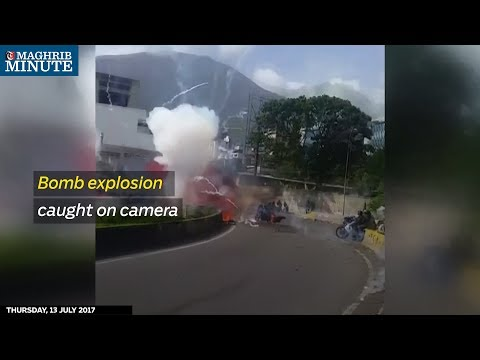 Bomb explosion caught on camera