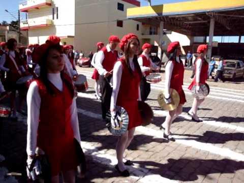 Desfile Cívico em Fontoura Xavier - Banda Municipal escola I.E.E.F.M 2010
