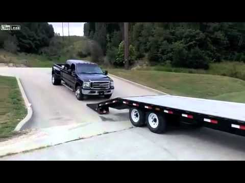 Don't do this when you load a truck onto a trailer