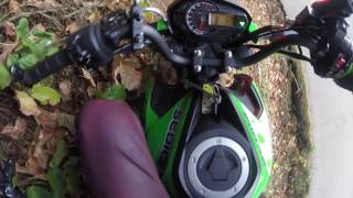 6. Undercover cop catches us on the trails kawasaki Z125 & Honda Ruckus
