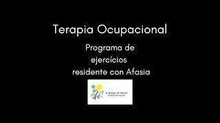 Rehabilitación de pacientes con afasia desde Terapia Ocupacional