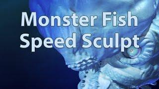 Blender Speed Sculpt - Monster Fish