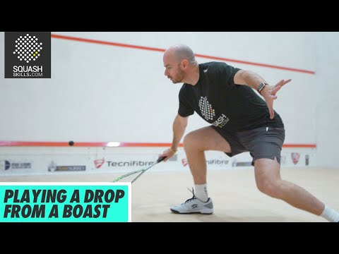 Squash Tips: Playing A Drop Shot From A Boast   Taking The Ball In Straight With Jesse Engelbrecht